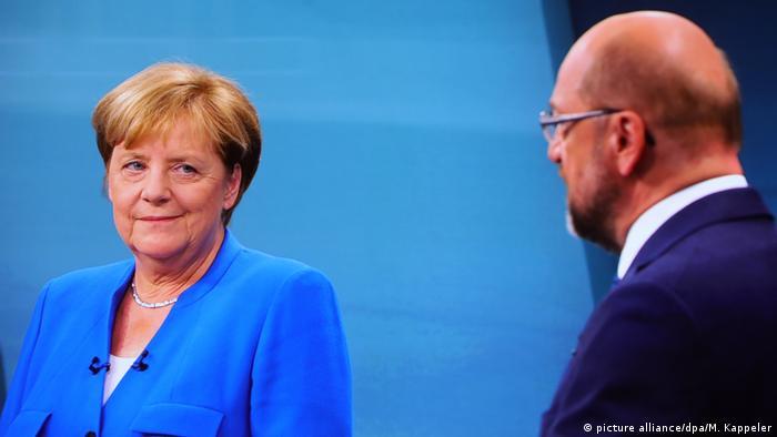 Ангела Меркель на теледебатах с Мартином Шульцем