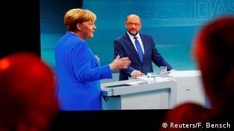 Deutschland TV Duell Merkel - Schulz