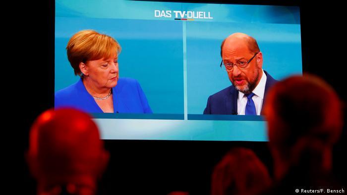 Germany election debate Merkel - Schulz (Reuters/F. Bensch)