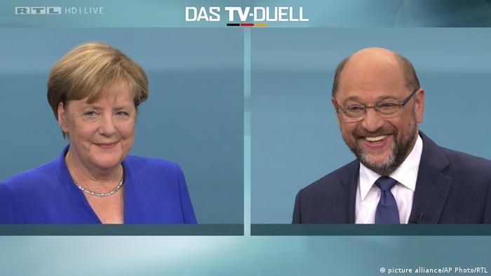 Deutschland TV Duell Merkel Schulz