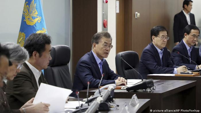 Südkorea Moon Jae-in (picture-alliance/AP Photo/Yonhap)