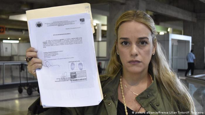 Venezuela Caracas Lilian Tintori (picture-alliance/Prensa Lilian Tintori/F. Touceiro)
