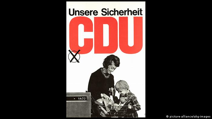 Bundestagswahl 1965/CDU- Wahlplakat. (picture-alliance/akg-images)