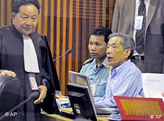 تصویری از نخستین روز دادگاه در کامبوج