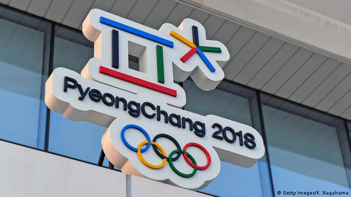 The logo for the Pyeongchang Winter Olympics