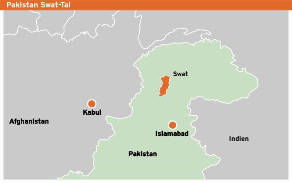 Karte Pakistan Swat-Tal deutsch