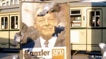 Οι πρώτοι έλληνες μετανάστες αισθάνονταν πιο κοντά στο SPD, εδώ προεκλογική αφίσα του Βίλυ Μπραντ από το 1972