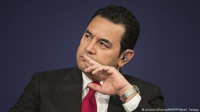 Frankreich Paris - Jimmy Morales Präsident von Guatemala (picture-alliance/MAXPPP/dpa/L. Tanguy)