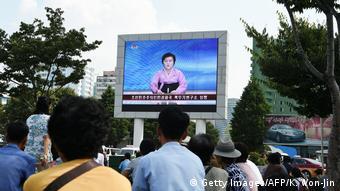Nordkorea Atomtest KCTV Nachrichtensprecherin Ri Chun Hee (Getty Images/AFP/K. Won-Jin)
