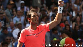 Rafael Nadal bei den US-Open in New York (picture-alliance/AA/M. Elshamy)