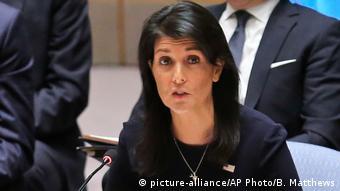 USA UN-Sicherheitsrat in New York - US-Botschafterin Nikki Haley