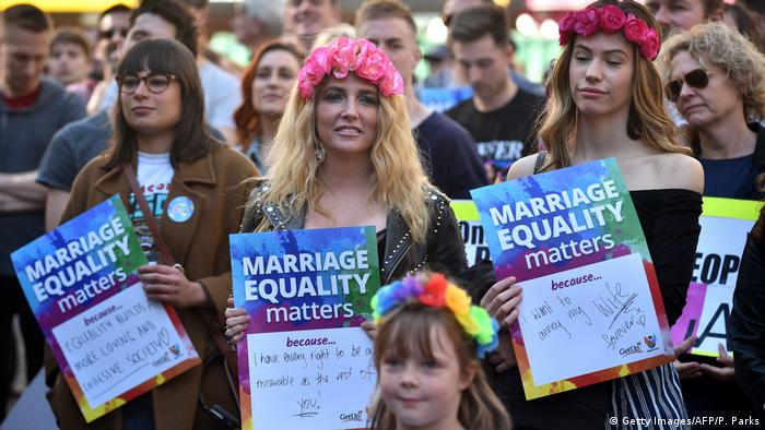 Australien Homo-Ehe-Demonstranten in Sydney (Getty Images/AFP/P. Parks)