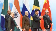China Xiamen BRICS-Treffen Narendra Modi und Xi Jinping