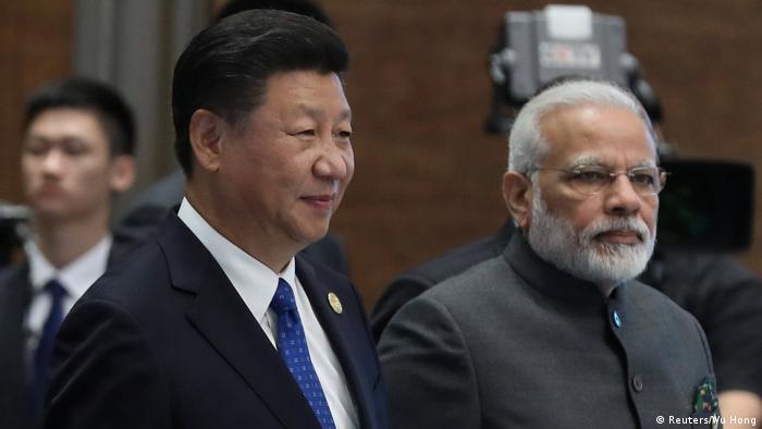 China Xiamen BRICS-Treffen Narendra Modi und Xi Jinping (Reuters/Wu Hong)