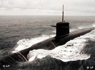 Submarino nuclear francés Le Triomphant.