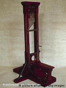 Гильотина. Изобретение Жозефа Игнаса Гильотена.