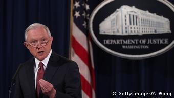 USA | Pressekonferenz Justizminister Jeff Sessions über DACA-Programm (Getty Images/A. Wong)