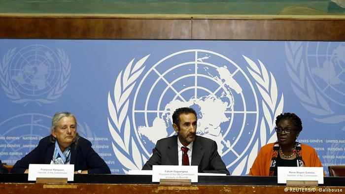 The three members of the UN commission