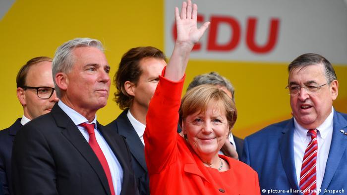 Deutschland Angela Merkel Wahlkampf in Heidelberg
