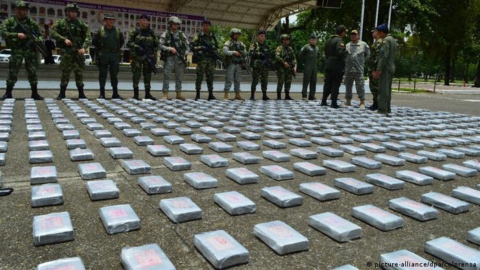 Kolumbien Kokain beschlagnahmt in Bogota