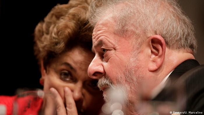Brasilien Ex-Präsidenten Dilma Rousseff und Luiz Inacio Lula da Silva in Brasilia (Reuters/U. Marcelino)
