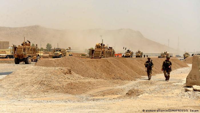 Afghanistan - US Soldaten am Ort eines Selbstmordanschlags der Taliban