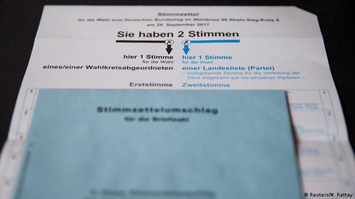 Deutschland Briefwahl Unterlagen