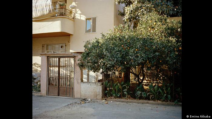 Image of block of apartments with orange tree in front (Foto: Emine Akbaba)