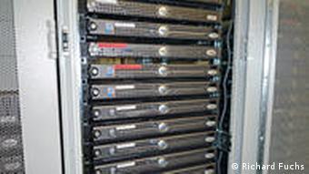 A view of an Internet server.
