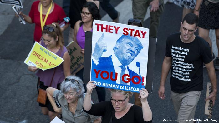 USA Daca-Programm Proteste in Los Angeles (picture-alliance/NurPhoto/R. Tony)