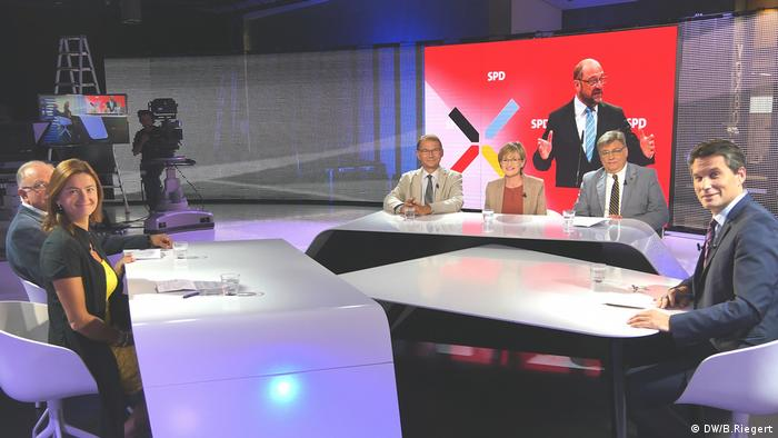 DW talkshow Germany decides (DW/B.Riegert)