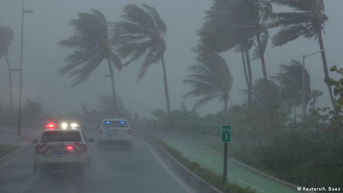 Fortes ventos atingem Porto Rico com a chegada de Irma
