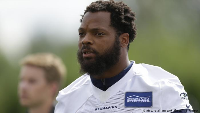USA NFL Football Seattle Seahawks Michael Bennett (picture-alliance/AP Photo/T. S. Warren)