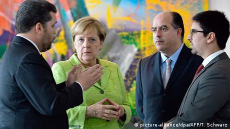Angela Merkel meets Venezuelan opposition lawmakers in Berlin