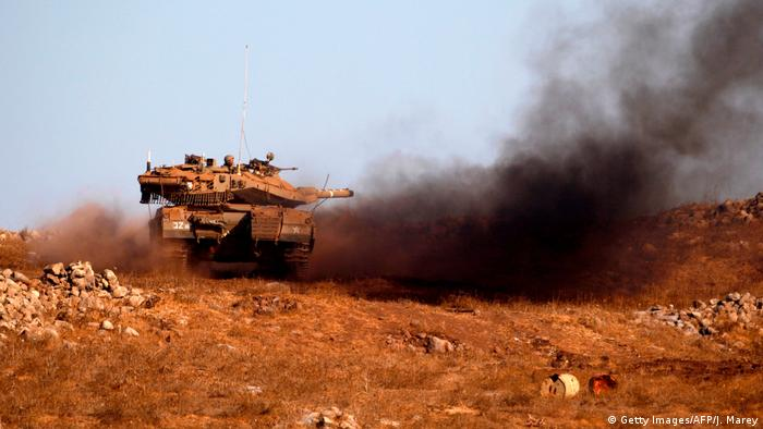 Irsrael war games in the Golan Heights