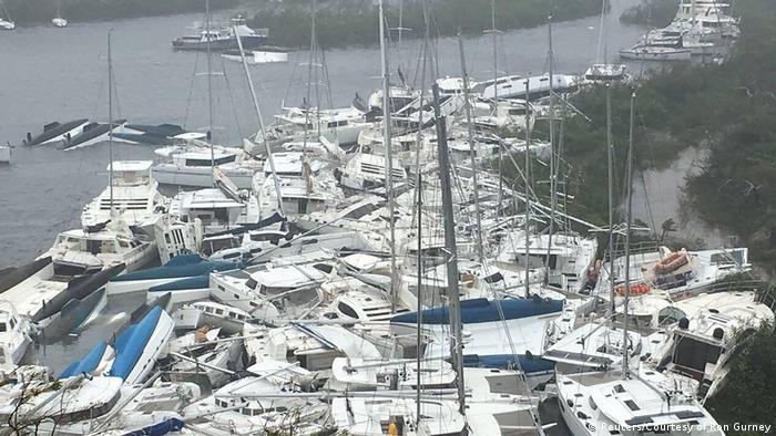 Bildergalerie Irma Yachten in Paraquita Bay, Tortola (Reuters/Courtesy of Ron Gurney)