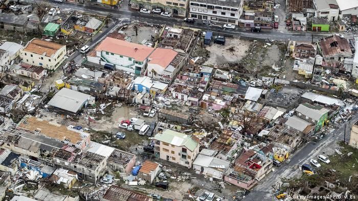 Damage of Hurricane Irma in Philipsburg, on the Dutch Caribbean island of Sint Maarten.