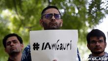 Indien Neu Delhi Mahnwache für getöteten Journalisten Gauri Lankesh
