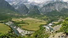 Vjosa Tal Fluss Albanien