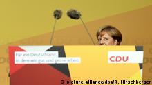 Deutschland Wahlkampf CDU - Merkel