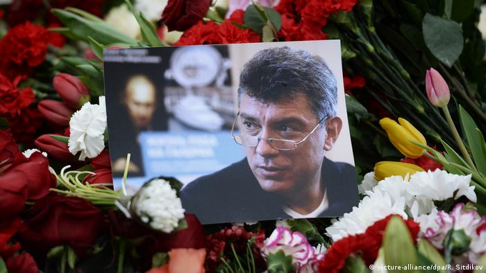 A photo of slain Russian dissident Boris Nemtsov
