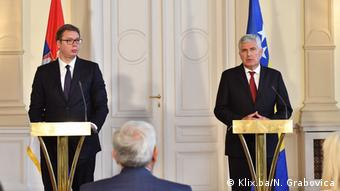 Vučić i Čović na zajedničkoj konferenciji za novinare