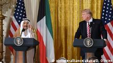 USA PK Präsident Donald Trump und Amir al-Sabah