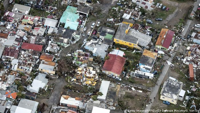 Hurricane Irma Dominikanische Republik - Saint Maarten (Getty Images/AFP/Dutch Defense Ministry/G. Van Es)