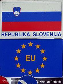 Slowenien Kroatien Grenze Autobahn Zagreb Maribor Schild (Ognjen Alujevic)