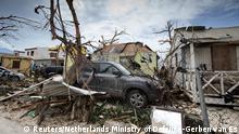 Destruction on the Dutch side of Saint Martin in the wake of Hurricane Irma