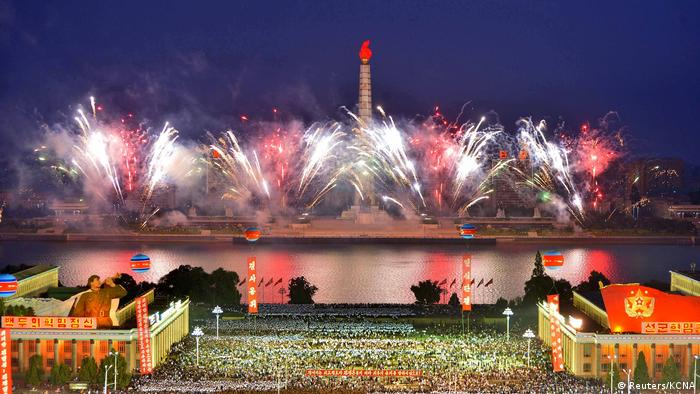 Pyongyang celebrates successful nuclear test (Reuters/KCNA)