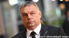 ARCHIV- Ungarns Ministerpräsident Viktor Orban nimmt am 01.07.2017 am europäischen Trauerakt für den verstorbenen Altkanzler Kohl im EU-Parlament in Straßburg teil. (zu dpa «Orban nimmt Urteil zur Kenntnis, sieht aber keinen Handlungsbedarf» vom 08.09.2017) Foto: Sven Hoppe/dpa +++(c) dpa - Bildfunk+++ | Verwendung weltweit