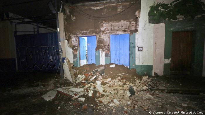 Mexiko Erdbeben   Zerstörung in Oaxaca (picture-alliance/AP Photos/L.A. Cruz)