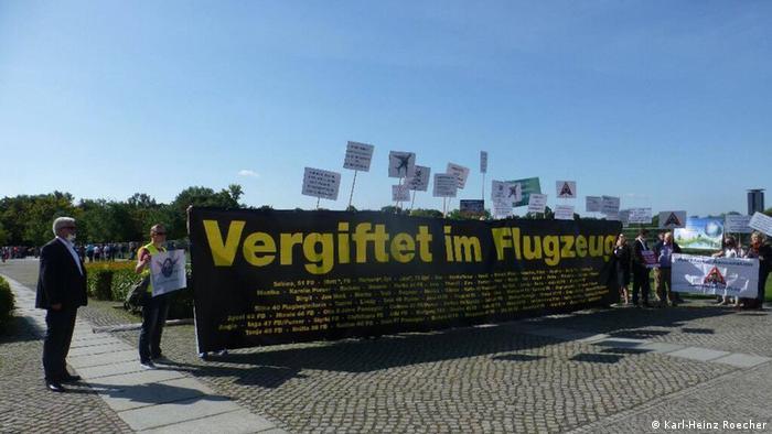 Berlin Protest Risiko kontaminierte Kabinenluft im Flugzeug (Karl-Heinz Roecher)